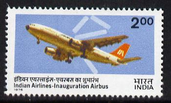 India 1976 Indian Airlines Airbus unmounted mint, SG 834