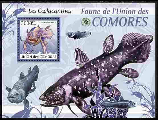 Comoro Islands 2009 Coelcanth Fish perf s/sheet unmounted mint Yv 201, Mi BL 511