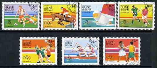 Guinea - Bissau 1984 Los Angeles Olympic Games (2nd issue) cto set of 7, SG 843-49