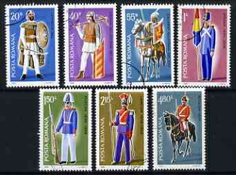 Rumania 1980 Military Uniforms set of 7 fine cto used, SG 4602-08*