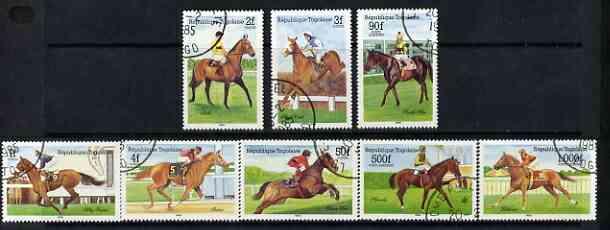 Togo 1985 Racehorses set of 8 cto used, SG1776-83