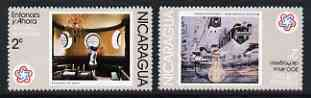 Nicaragua 1978 the two 2c values from Bicent of American Revolution (2nd Series) '200 years of Progress' fine unmounted mint SG 2058-9