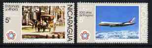 Nicaragua 1978 the two 5c values from Bicent of American Revolution (2nd Series) '200 years of Progress' fine unmounted mint SG 2064-5