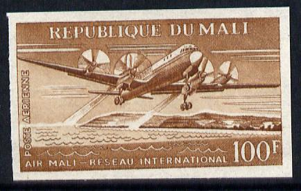 Mali 1963 Air 100f (Illyushin I1-18 Airliner taking off) unmounted mint imperf colour trial proof (several different combinations available but price is for ONE) as SG 74
