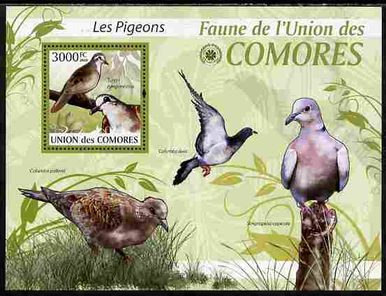 Comoro Islands 2009 Pigeons perf s/sheet unmounted mint Yv 203, Mi BL 522