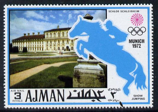 Ajman 1971 Show Jumping 3R from Munich Olympics perf set of 20 unmounted mint, Mi 745