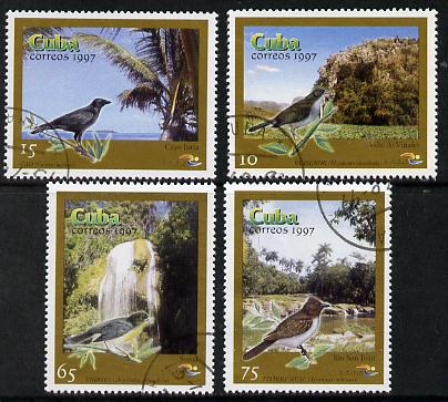Cuba 1997 Birds complete perf set of 4 values cto used*
