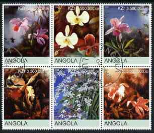 Angola 2000 Orchids #2 set of 6 very fine cto used