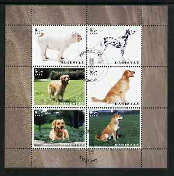 Dagestan Republic 2003 Dogs perf sheetlet containing set of 6 values cto used