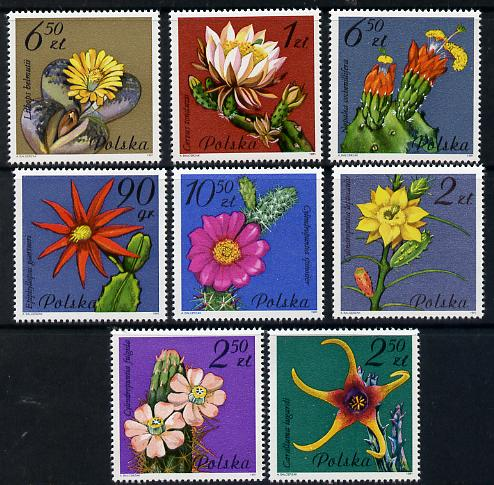 Poland 1981 Succulent plants (Flowering Cacti) set of 8 unmounted mint SG 2786-93