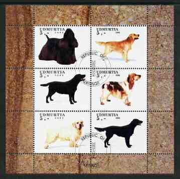 Udmurtia Republic 2003 Dogs perf sheetlet containing set of 6 values cto used
