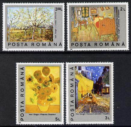Rumania 1991 Death Centenary of Vincent Van Gogh set of 5 unmounted mint, SG 5318-22, Mi 4637-41
