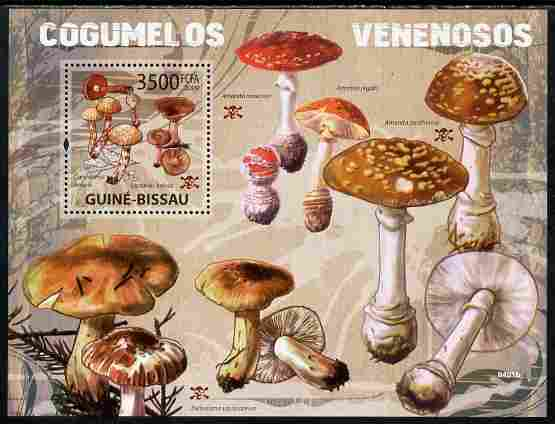 Guinea - Bissau 2009 Poisonous Mushrooms perf s/sheet unmounted mint Yv 454, stamps on fungi