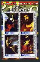 Ivory Coast 2003 Art of the Renaissance - Paintings by Jusepe de Ribera perf sheetlet containing 4 values unmounted mint