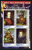 Ivory Coast 2003 Art of the Renaissance - Paintings by Di\8Ego Velazquez perf sheetlet containing 4 values unmounted mint