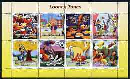 Congo 2003 Looney Tunes #1 perf sheetlet containing 7 values plus label unmounted mint