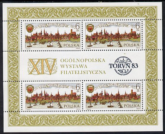 Poland 1983 Anniversary of Torun m/sheet unmounted mint SG MS 2891