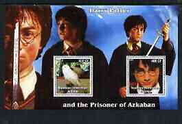 Congo 2003 Harry Potter & the Prisoner of Azkaban perf m/sheet containing 2 values unmounted mint