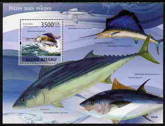 Guinea - Bissau 2009 Fish - Speed Records perf s/sheet unmounted mint Yv 455