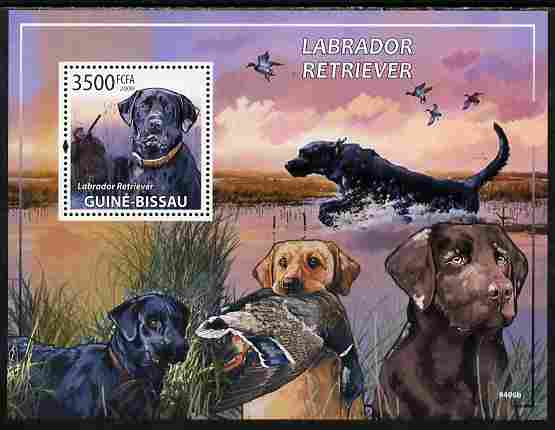 Guinea - Bissau 2009 Dogs - Labrador Retrievers perf s/sheet unmounted mint Yv 459