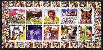 Benin 2003 Wolves perf sheetlet containing 10 values unmounted mint