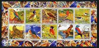 Ivory Coast 2003 Birds perf sheetlet containing 10 values, Scout logo in margin, unmounted mint