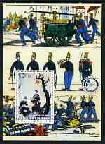 Benin 2003 Historical Fire Engine (With Red Cross & Rotary) perf m/sheet unmounted mint