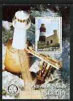 Benin 2003 Lighthouses of Africa perf m/sheet #01 with Rotary Logo unmounted mint
