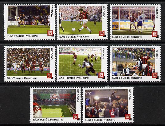 St Thomas & Prince Islands 2004 Football perf set of 8 values unmounted mint. Note this item is privately produced and is offered purely on its thematic appeal