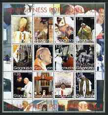 Gagauzia Republic 2003 Pope John Paul II perf sheetlet #04 containing complete set of 12 values (inscribed Pope Joan Paul II) unmounted mint