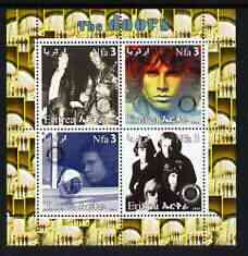 Eritrea 2003 The Doors (pop group) perf sheetlet containing set of 4 values each with Rotary International Logo unmounted mint