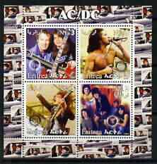 Eritrea 2003 AC/DC perf sheetlet containing set of 4 values each with Rotary International Logo unmounted mint