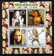 Benin 2003 Madonna #1 perf sheetlet containing set of 4 values each with Rotary International Logo unmounted mint