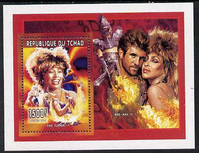 Chad 1996 Entertainers - Tina Turner perf m/sheet unmounted mint. Note this item is privately produced and is offered purely on its thematic appeal.