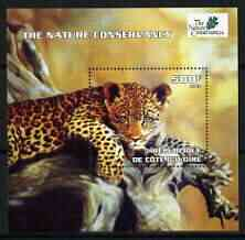 Ivory Coast 2003 The Nature Conservancy perf m/sheet (Leopard) unmounted mint