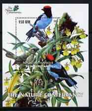 Mauritania 2003 The Nature Conservancy perf m/sheet (Birds by John Audubon) unmounted mint