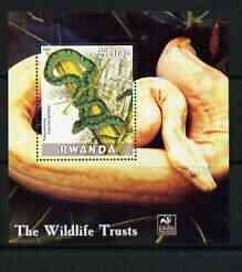 Rwanda 2003 The Wildlife Trusts perf m/sheet (Snakes) unmounted mint