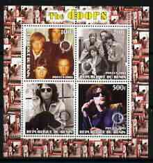 Benin 2003 The Doors (pop group) #2 perf sheetlet containing set of 4 values each with Rotary International Logo unmounted mint