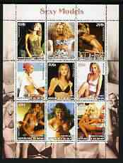 Benin 2003 Sexy Models perf sheetlet containing set of 9 values unmounted mint