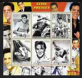 Benin 2003 Elvis Presley #02 perf sheetlet containing set of 6 values unmounted mint