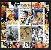 Eritrea 2003 Elvis Presley perf sheetlet containing set of 6 values unmounted mint