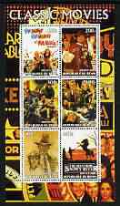 Benin 2003 Classic Movie (Posters) #1 perf sheetlet containing set of 6 values unmounted mint
