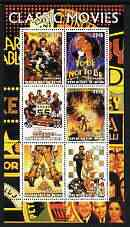 Benin 2003 Classic Movie (Posters) #3 perf sheetlet containing set of 6 values unmounted mint