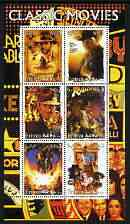 Eritrea 2003 Classic Movie (Posters) #1 perf sheetlet containing set of 6 values unmounted mint