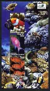 Benin 2003 The Nature Conservancy perf sheetlet containing set of 3 values (Ocean Fauna) unmounted mint