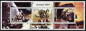 Ivory Coast 2003 Fantasy Tales perf sheetlet containing set of 3 values unmounted mint