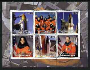 Mauritania 2003 Tribute to Space Shuttle 'Columbia' #1 perf sheetlet containing 6 values unmounted mint