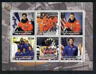 Mauritania 2003 Tribute to Space Shuttle 'Columbia' #2 perf sheetlet containing 6 values unmounted mint