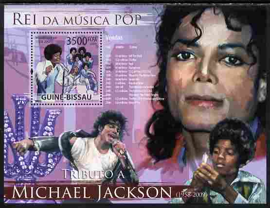 Guinea - Bissau 2009 Michael Jackson perf s/sheet unmounted mint Yv 463