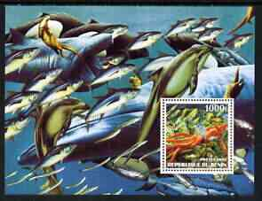 Benin 2002 Sea World perf m/sheet unmounted mint (Fish, Dolphins, Squid etc)